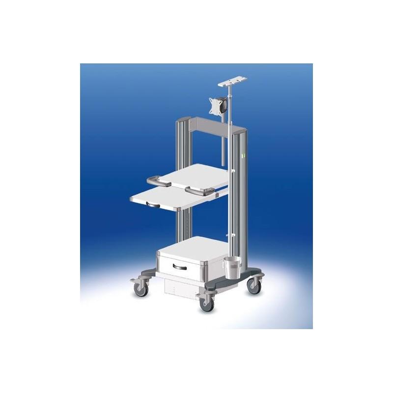 HAEBERLE toro Endoskopiewagen 4 Platten-Breite 45 cm