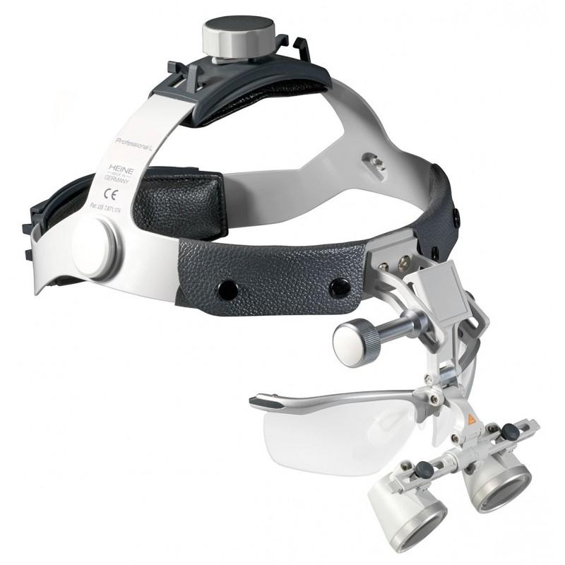 HEINE HR 2,5x Lupen Set mit i-View auf Professional L Kopfband