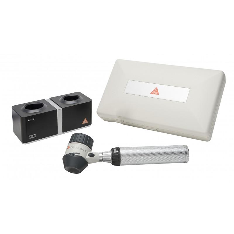 HEINE DELTA 20 T LED Dermatoskop Set mit 4 NT Ladestation