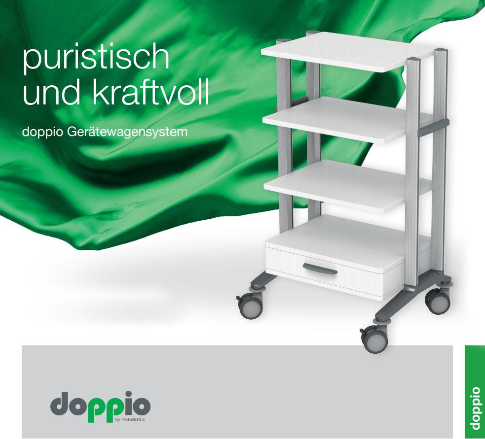 HAEBERLE doppio Gerätewagensystem für die Arztpraxis oder Klinik